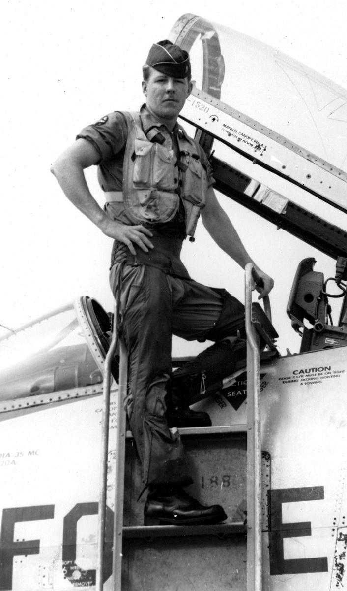 This RF-101C pilot had his Voodoo hit by ground fire during a dangerous recce mission over North Vietnam but he continued on the photo run until it exploded and crashed