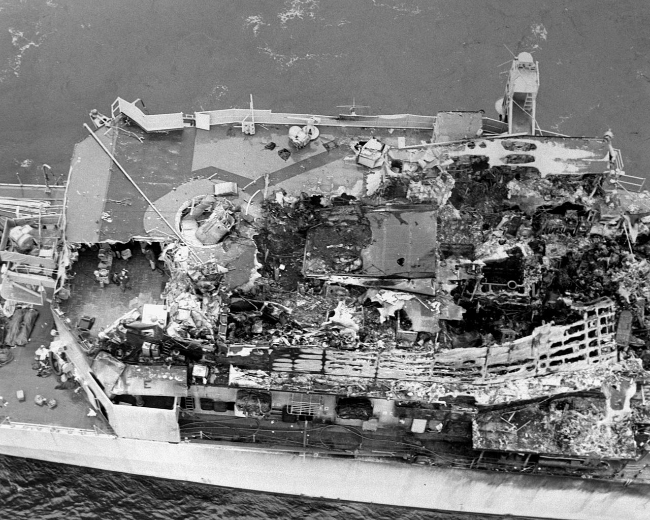 The night USS Belknap Guided Missile Cruiser and USS John F. Kennedy aircraft carrier collided in the Mediterranean Sea