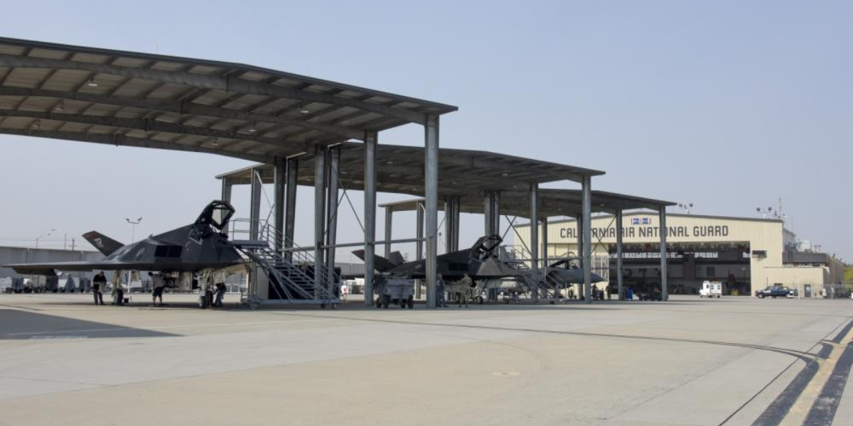 'Two F-117s are participating in DACT missions with 144th FW F-15s,' USAF says. And releases first official photos of Nighthawks deployment to Fresno.