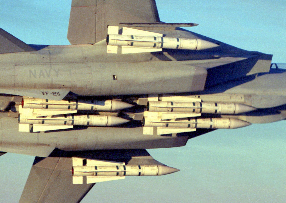 US Navy F-14 crew members explain how you could land a Tomcat with a full load of six AIM-54 Phoenix missiles on the aircraft carrier