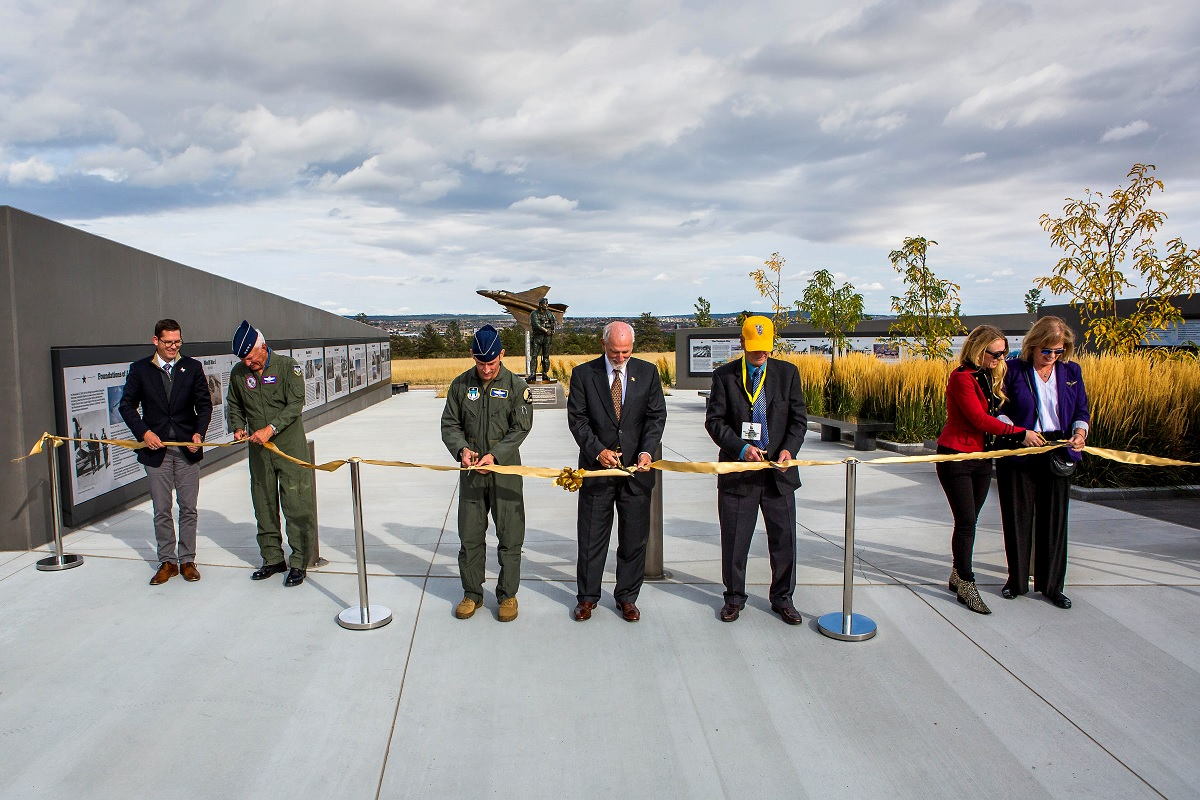 USAF Academy unveils Air Warrior Combat Memorial honoring ace pilot Robin Olds and air power