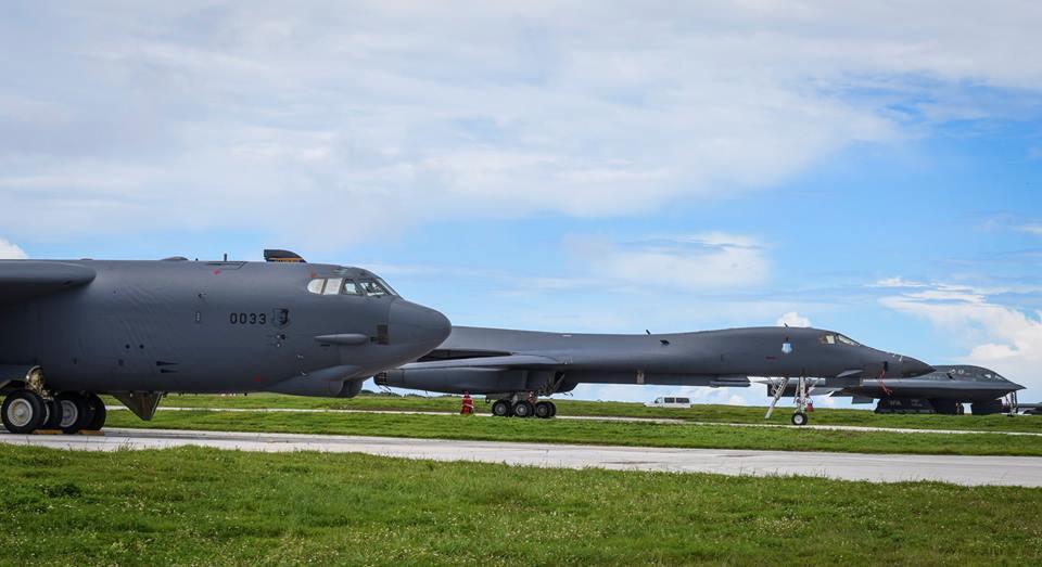 B-52H, B-1B and B-2