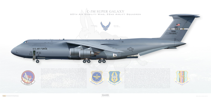 The C-5 Galaxy is so Huge it can carry a whole Aerobatic Team inside its Cargo Bay