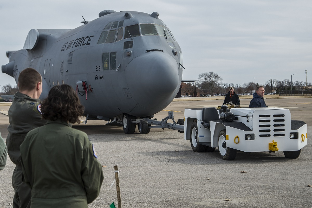 THIS IS SCOTT AFB NEW C-130H FUSELAGE TRAINER