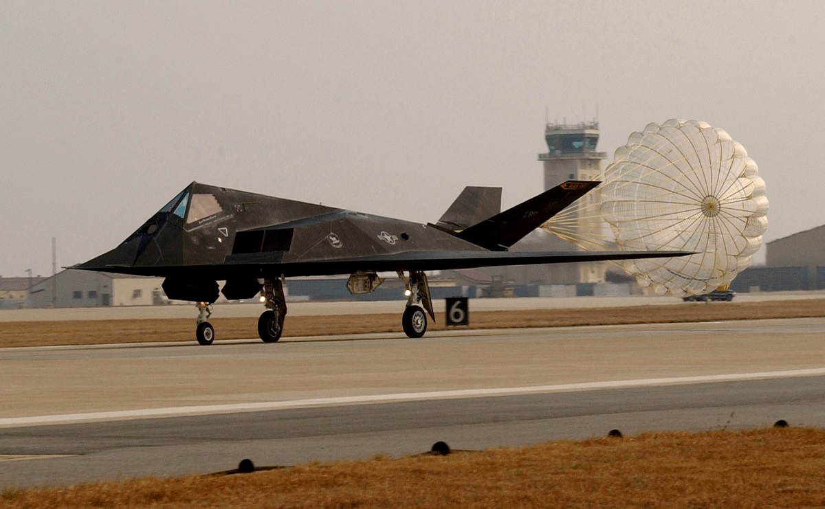 One of the F-117s secretly deployed to the middle East to
