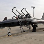 T-38 jet trainer crashes in Oklahoma; pilot ejected safely.