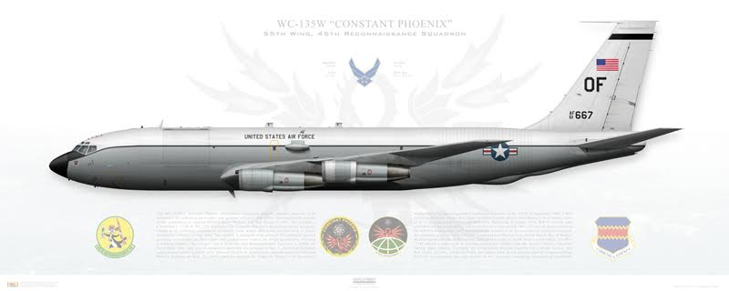 USAF retires one of its only two WC-135 Constant Phoenix nuclear sniffer planes