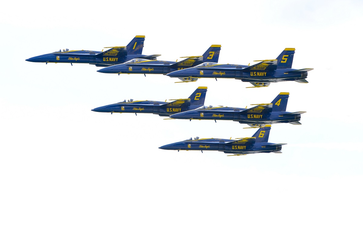 Blue Angels Conducted Final Flight on Legacy Hornet Aircraft Marking Transition to Super Hornet