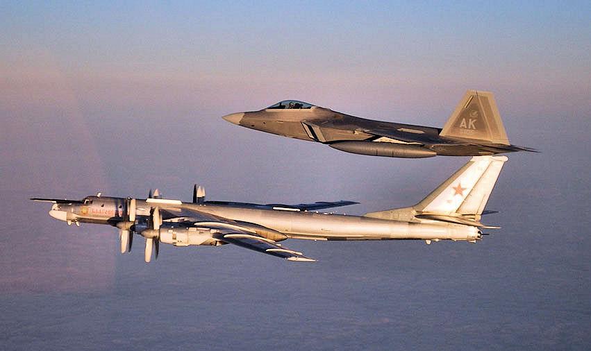 USAF F-22 RAPTORS RECENTLY INTERCEPTED A RUSSIAN Tu-95 BEAR STRATEGIC  BOMBER THAT WAS APPROACHING THE COAST OF ALASKA - The Aviation Geek Club