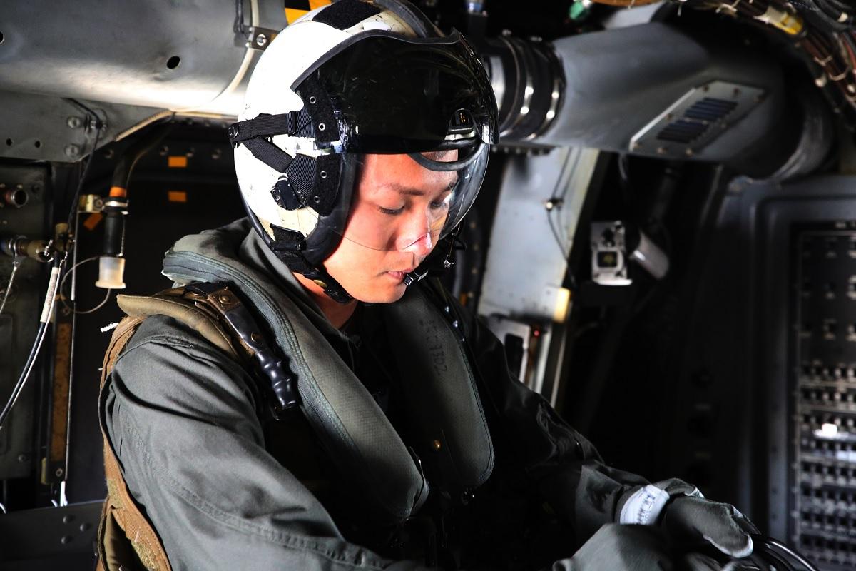 Sgt. 1st CLASS MIDSRU MIYAZAKI WILL BE FIRST JAPANESE MV-22 OSPREY CREW CHIEF