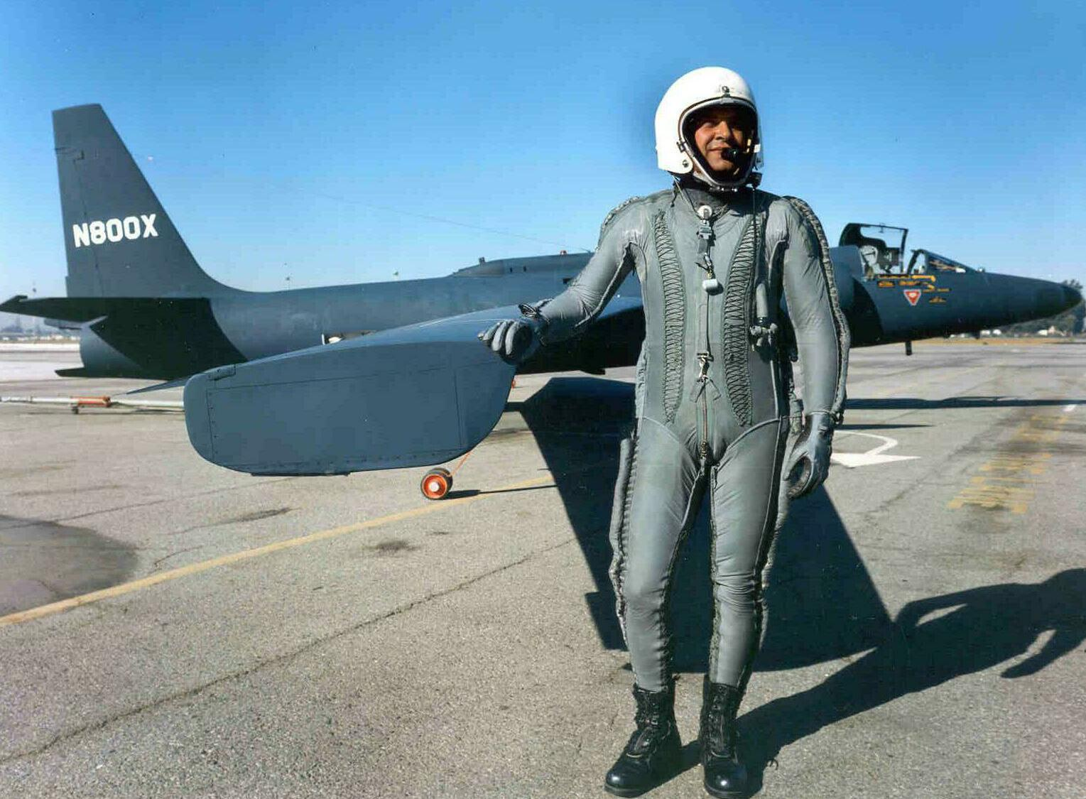 Pilot of U-2 U-2 Dragonlady Photograph of Francis Gary Powers in his G-Suit