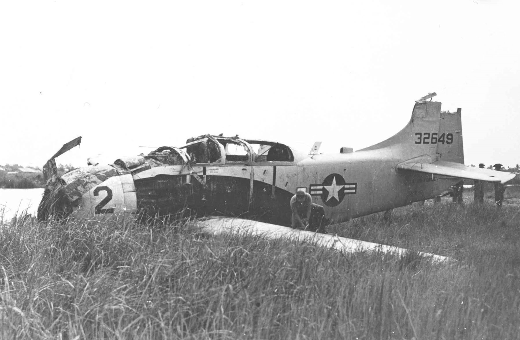 The incredible story of the Skyraider pilot who landed his SPAD on a besieged airstrip to rescue another crash-landed A-1 pilot