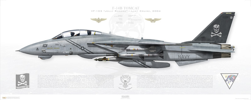 VF-103 F-14B Print