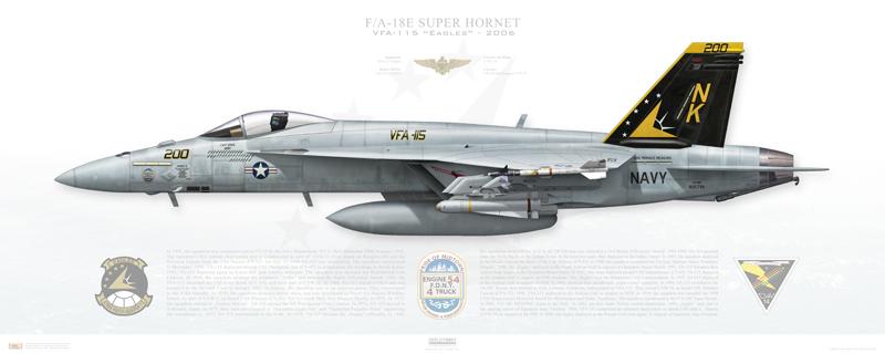 VFA-115 F/A-18E Print