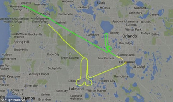 Giant penis drawn over Florida in 2015