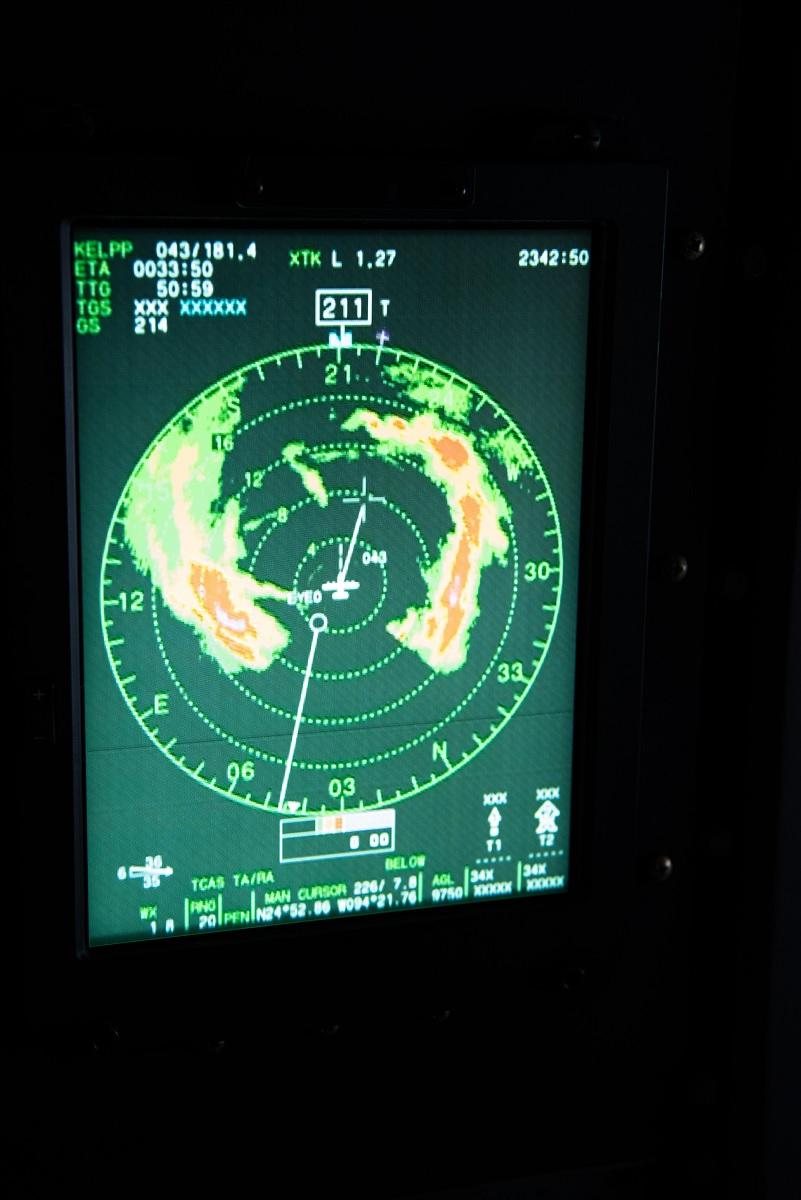 53rd WRS airmen track Hurricane Hunters