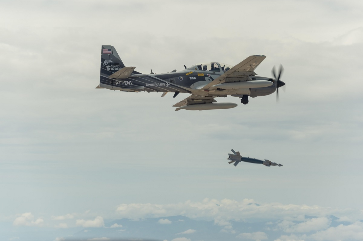 Edwards test pilots fly experimental light attack aircraft at OA-X competition