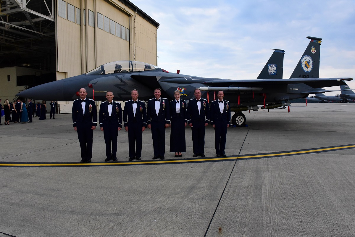 Some cool photos of F-15E Strike Eagle painted to commemorate the 75th anniversary of the 4th Fighter Wing