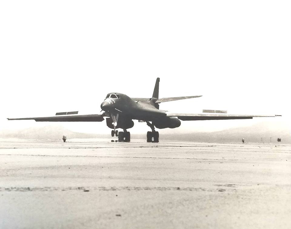 The legend of the B-1B bomber that broke windows all over the town of Abilene while performing her first flyover of the city