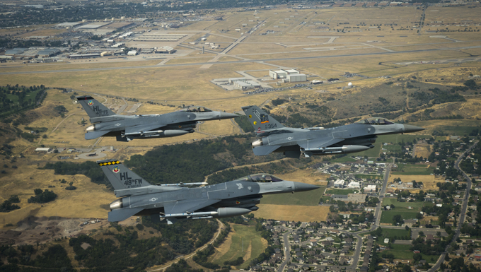 Hill says goodbye to the iconic F-16 Viper