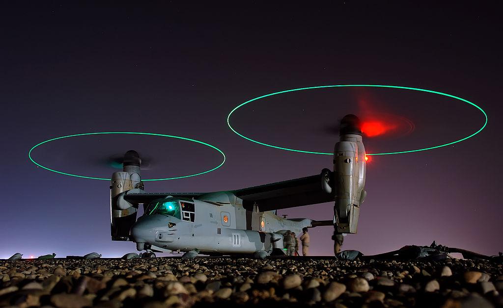 USMC MV-22B Osprey destroyed after having performed hard landing in Syria