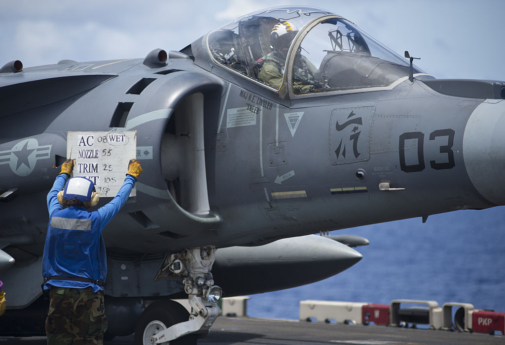 RAF pilot was aboard the USMC AV-8B Harrier that caught fire on board USS Kearsarge last year