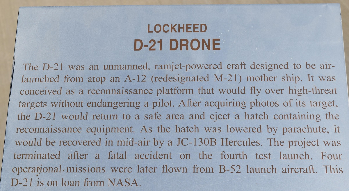 Nose art celebrates Lokcheed D-21 drone 50th anniversary