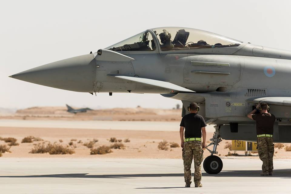 RAF Typhoon fighters break the record for the longest Eurofighter sortie flown against Da'esh