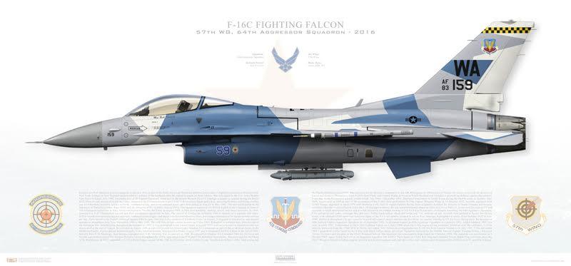 Aggressor F-16 Print