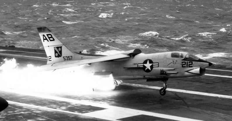 Here's why this famous F-8 crash landing would have been much worse on a straight deck carrier