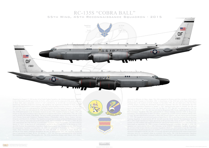 RC-135S Cobra Ball print