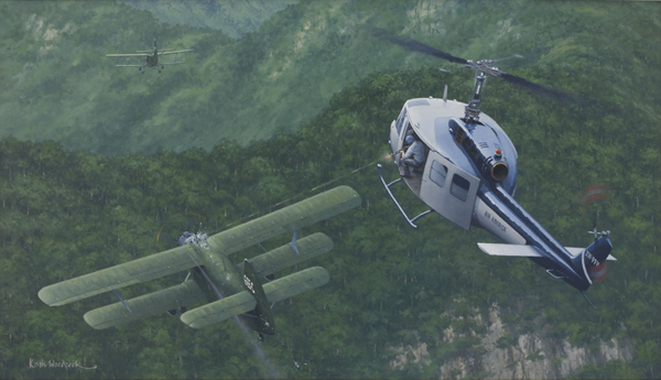 The incredible story of the Air America UH-1D Huey that shot down a North Vietnamese AN-2 Colt biplane
