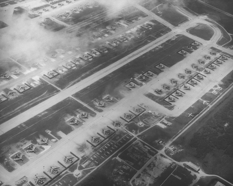 Impressive photos show B-52 bombers taking part in Operation Linebacker II, the Christmas bombings over North Vietnam which took place 45 years ago