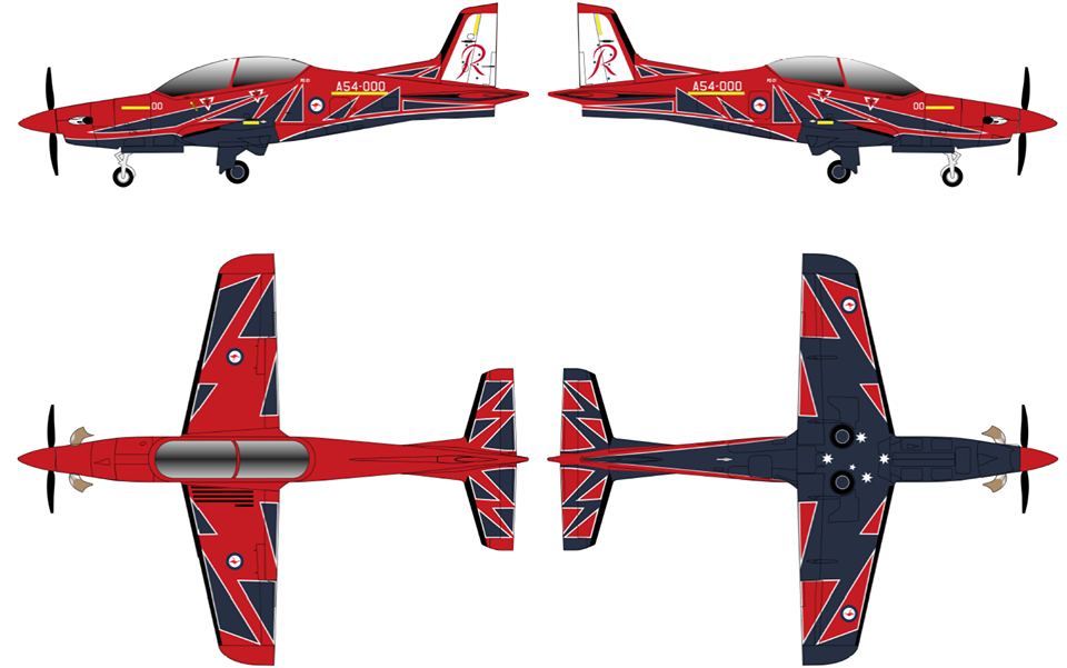 RAAF aerobatic team Roulettes will fly PC-21 trainers featuring new livery