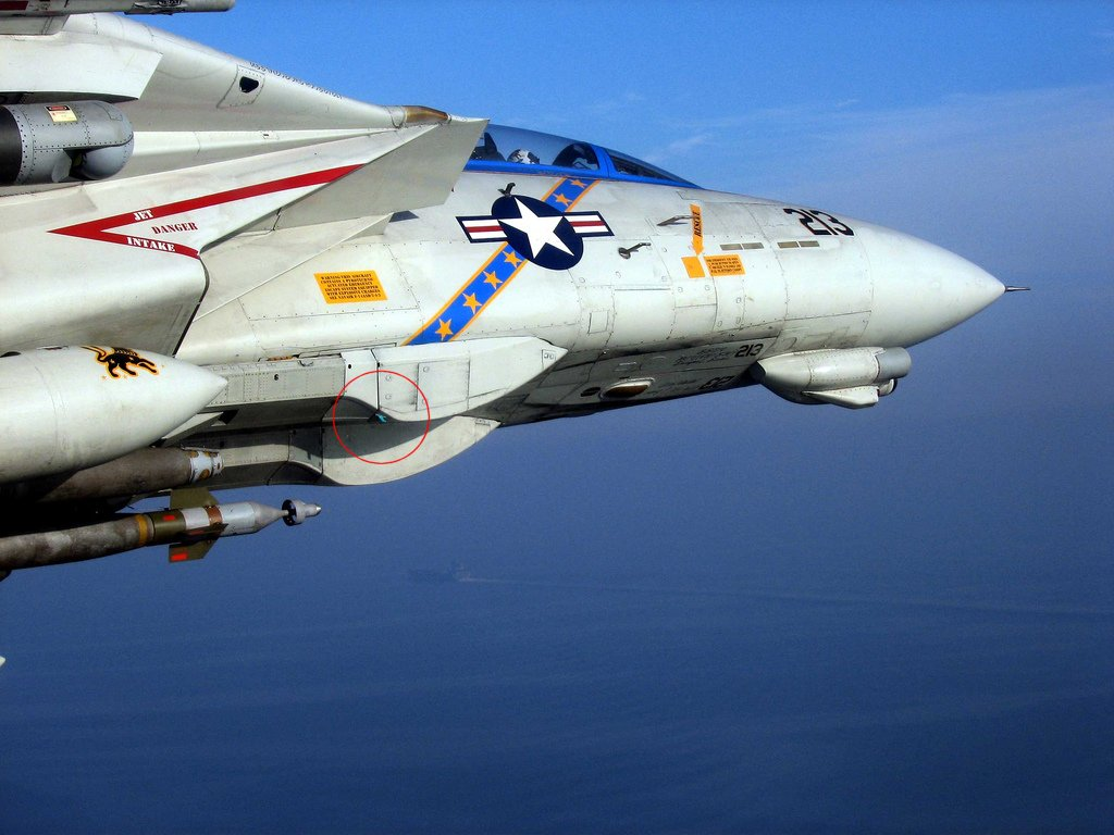 This F-14D close-up shows the last upgrade received by Tomcat before being retired