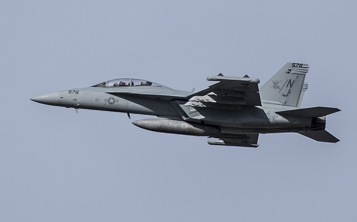Here's USAF's first EA-18G Growler electronic attack fighter pilot