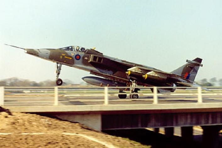 VINTAGE FOOTAGE SHOWS JAGUAR ATTACK AIRCRAFT UNDERTAKING