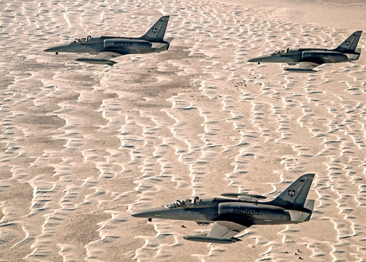 Draken L-159E Honey Badger aircraft provided Red Air for USMC air assets during Exercise Winter Fury