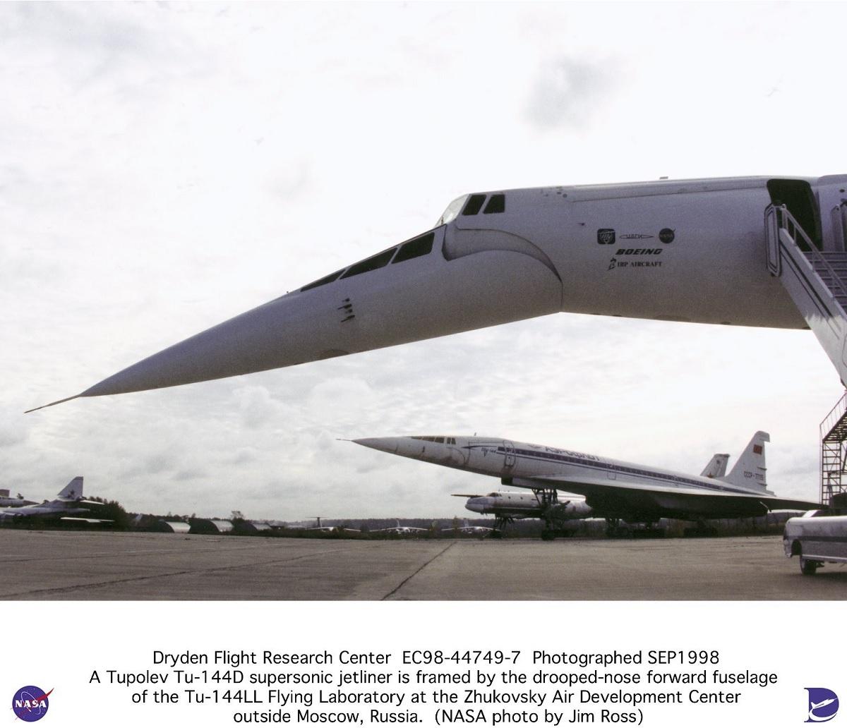 A quick look at NASA Tupolev Tu-144LL research program