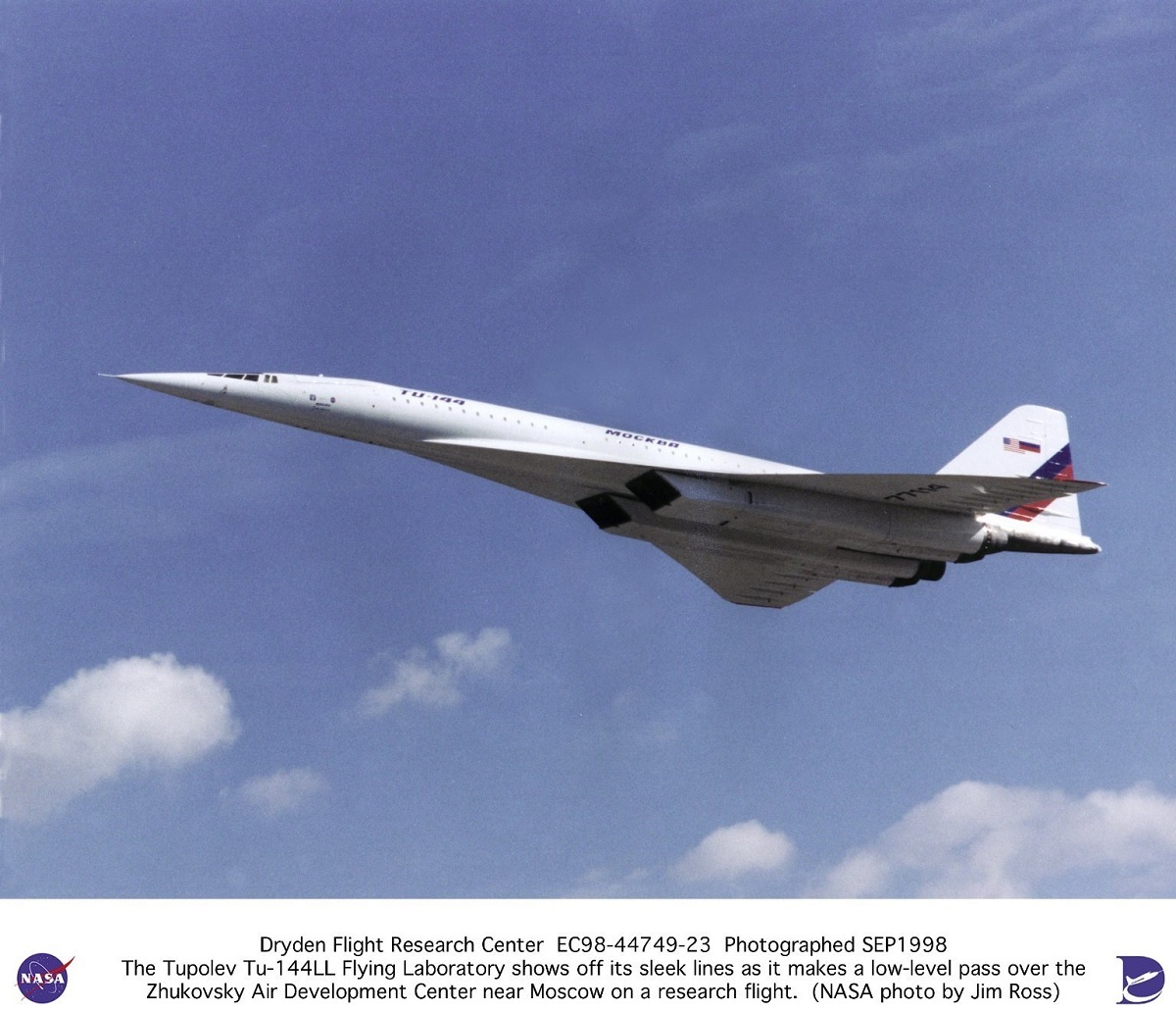 A quick look at NASA Tupolev Tu-144LL research program