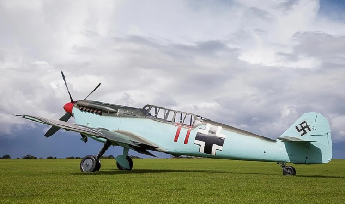 The copy of the Me 109G which was flown by Adolf Galland and Robert Stanford-Tuck is up for sale