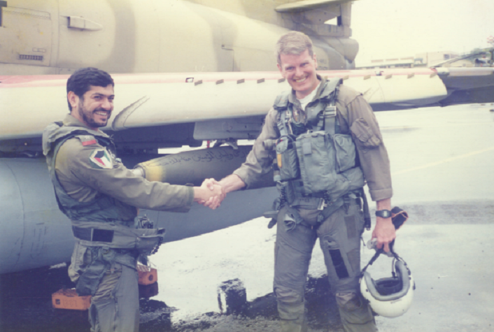 This U.S. Naval Aviator helped renconstruct and train the Kuwait Air Force after invasion of Kuwait by Iraq