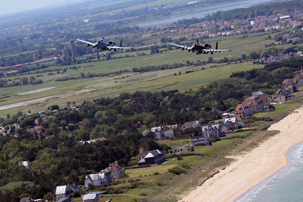 107th Fighter Squadron returns to Normandy after 74 years to commemorate the D-Day invasion