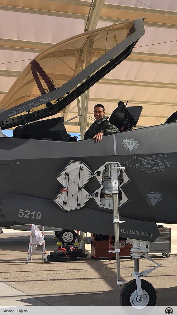 Maj. Halit Oktay is the first Turkish pilot to fly the F-35