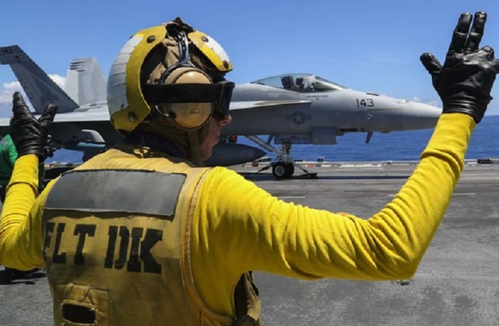 Filming for Top Gun: Maverick taking place aboard USS Abraham Lincoln