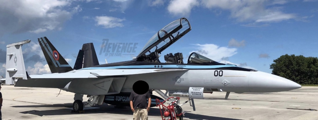 This could be the F/A-18F Super Hornet flown by Maverick in Top Gun Sequel