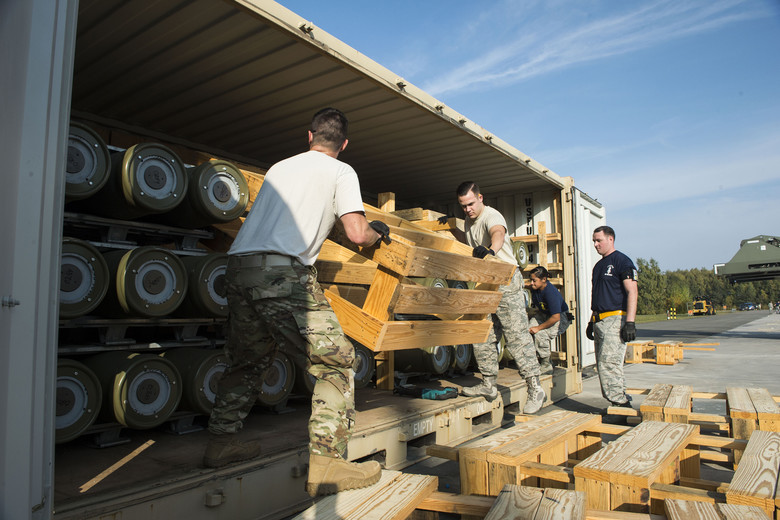 Ramstein receives largest ammo shipment since Operation Allied Force