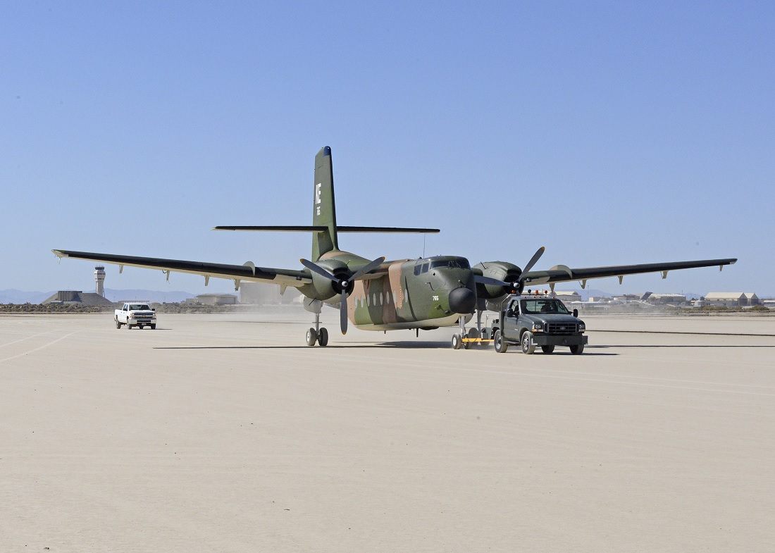 Edwards' C-7A Caribou gets new look