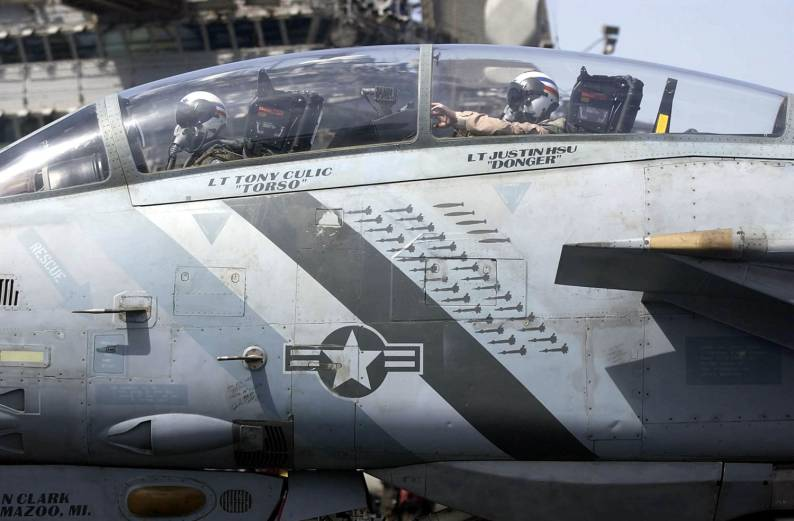 Go For Your Gun! The first F-14 Tomcat Strafe Run during Operation Iraqi Freedom