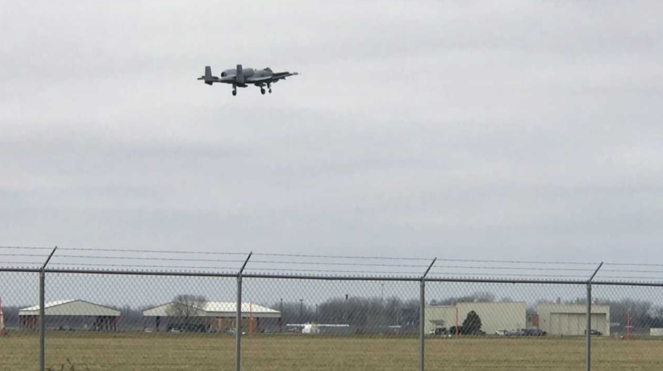 ANG A-10 makes emergency landing after partial loss of canopy